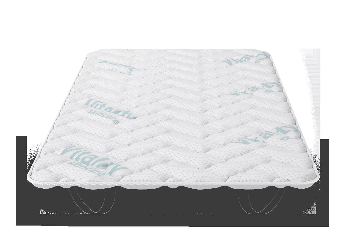 VitalCare Topper-front-mattress
